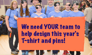 We Need T-Shirt and Pin Designs!